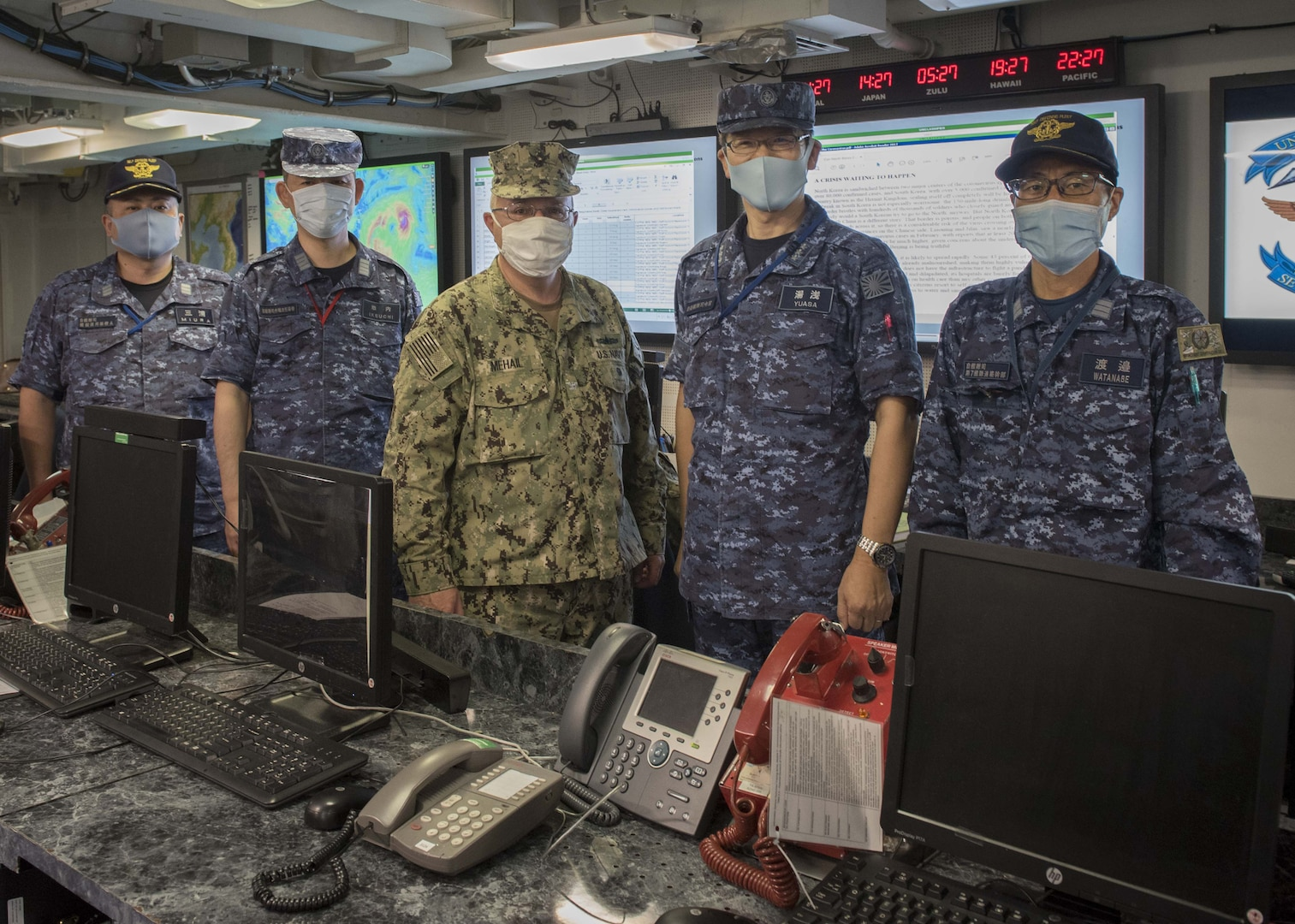 JMSDF Leadership Visits Commander, U.S. Seventh Fleet