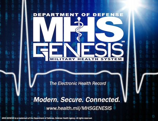The 412th Medical Group began the transition to the new Medical Health System Genesis on Edwards Air Force Base, California, Sept. 26. (Image courtesy of Defense Health Agency)