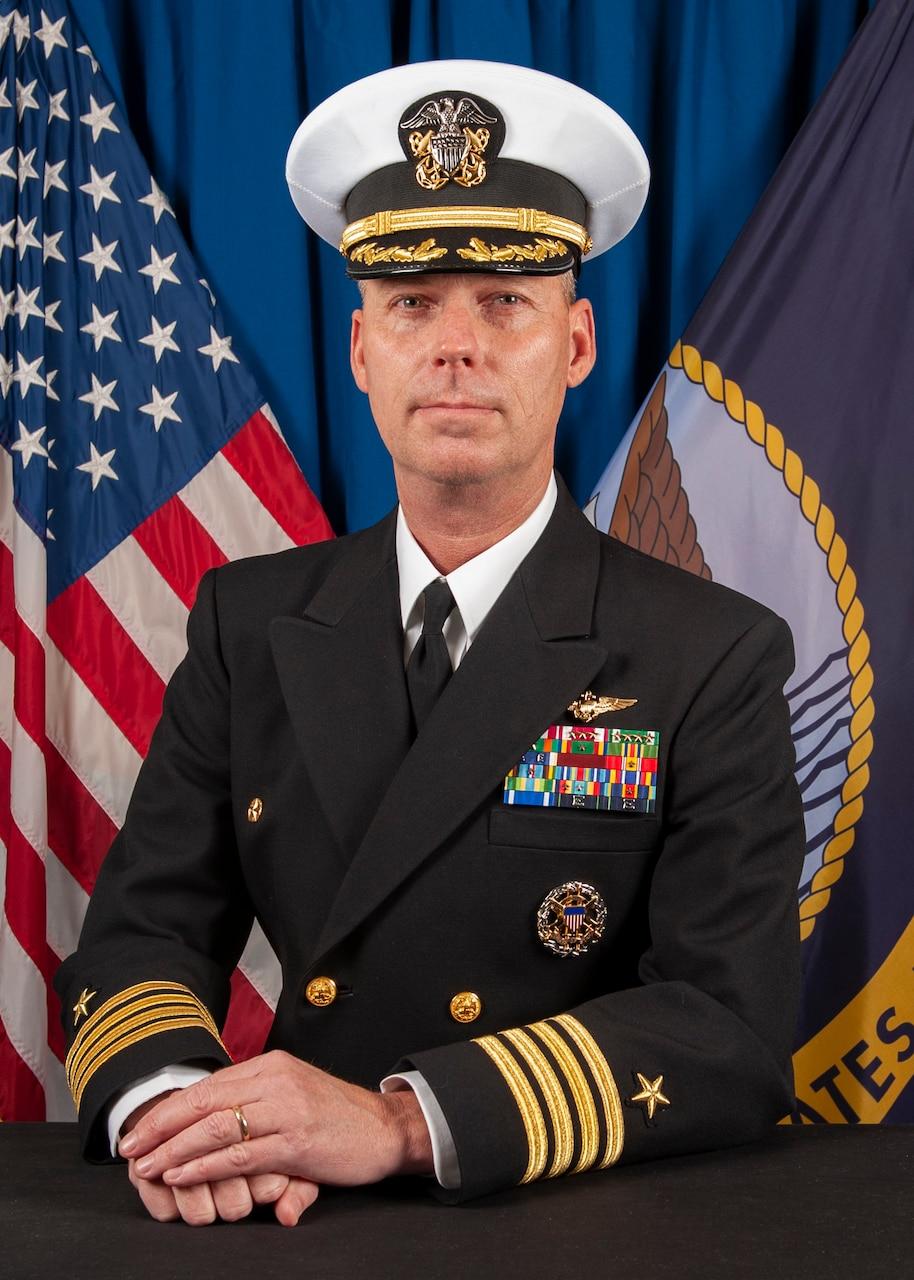 Official biography photo of Capt. Gregory Scott Thoroman, commanding officer, USS Bonhomme Richard (LHD 6).