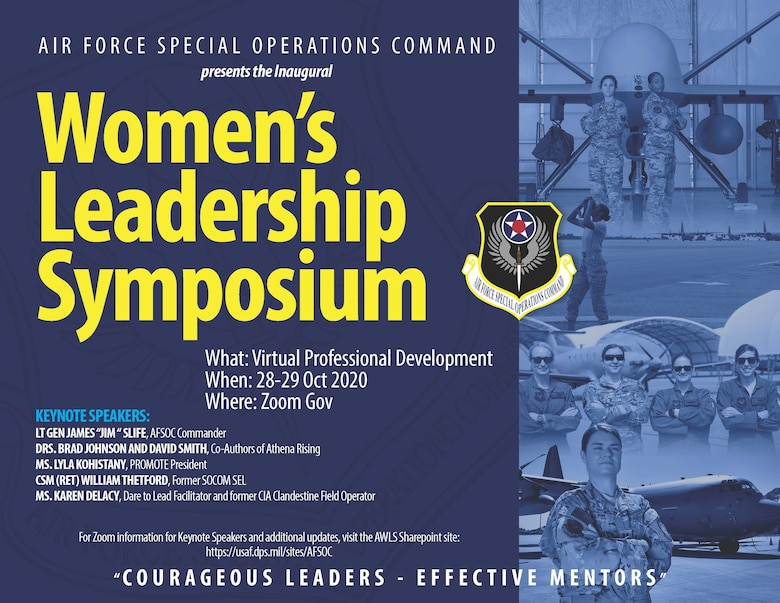 AFSOC to host first virtual Women's Leadership Symposium