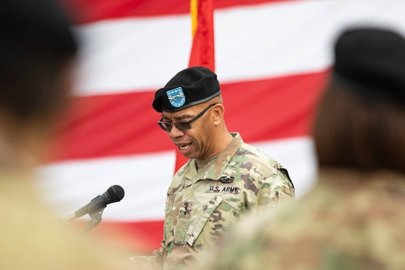 Command of second-largest Army Reserve unit changes hands in COVID-conscious ceremony