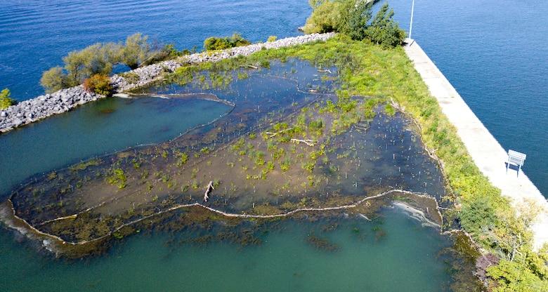 The Unity Island wetland restoration site
