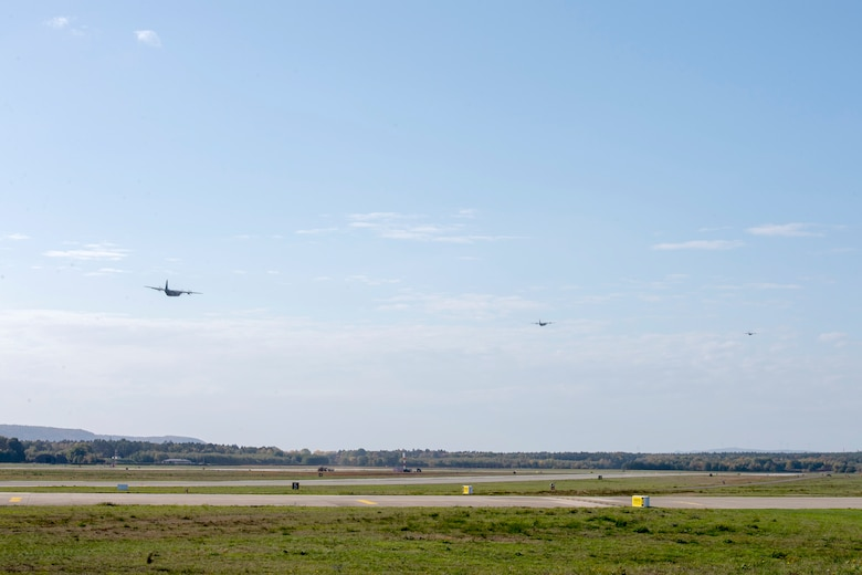 Photo of aircraft departing Germany
