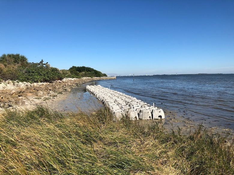 Oyster domes placed along Bayshore Blvd. at MacDill Air Force Base, Florida, December 2018.