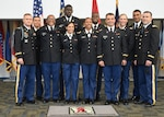 The newly commissioned 2nd lieutenants and cadre of the Georgia Military Institute's Officer Candidate School Class 59 following their commissioning ceremony at the Clay National Guard Center, Marietta, Ga. Sept. 30, 2020.