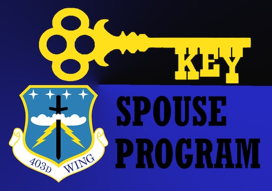 403rd Wing Key Spouse Program (U.S. Air Force graphic by Jessica L. Kendziorek)