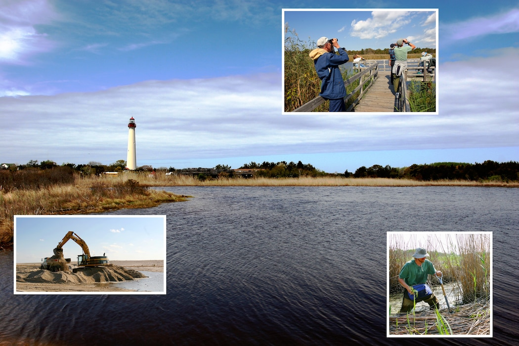 The initial construction for the Lower Cape May Meadows-Cape May Point ecosystem restoration project was completed in 2007 and has been nourished/repaired in subsequent years. Work is designed to reduce damages from coastal storms and to protect fish and wildlife habitat.
