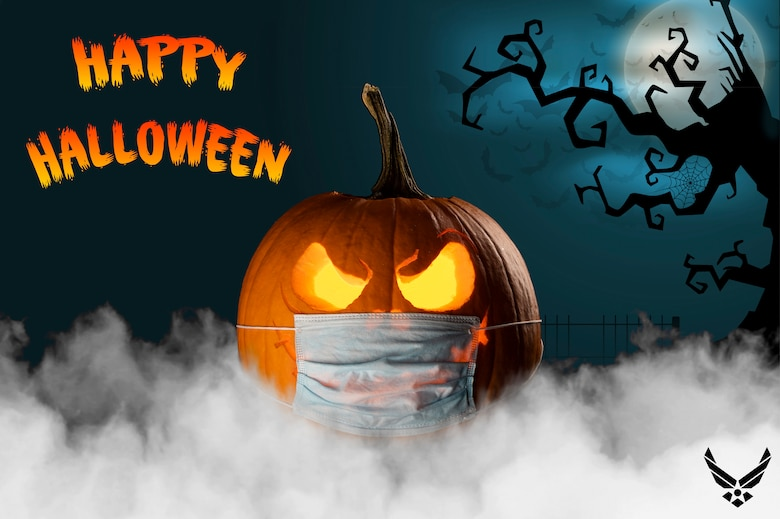 This Halloween photo illustration was created to wish everyone a safe and happy Halloween from the 436th Airlift Squadron at Dover Air Force Base, Delaware. (U.S. Air Force photo illustration by Senior Airman Christopher Quail) (This image was created with smoke added to the bottom and a background was added.)