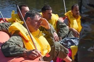 Sumpter Smith Airmen Train to Survive Water Landing