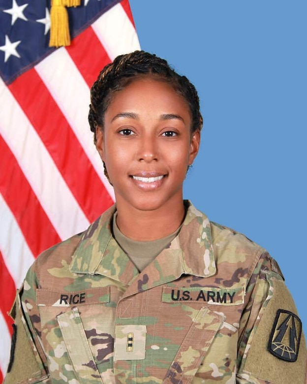 Chief Warrant Officer 2 Kenya Rice poses for an official portrait. Rice was the only Army Reserve Warrant Officer to win the General Douglas MacArthur Award in 2020.