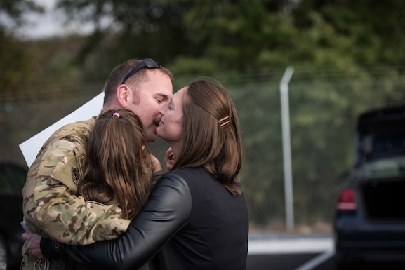 Airmen from the 193rd Special Operations Wing connect with friends, family and loved ones.