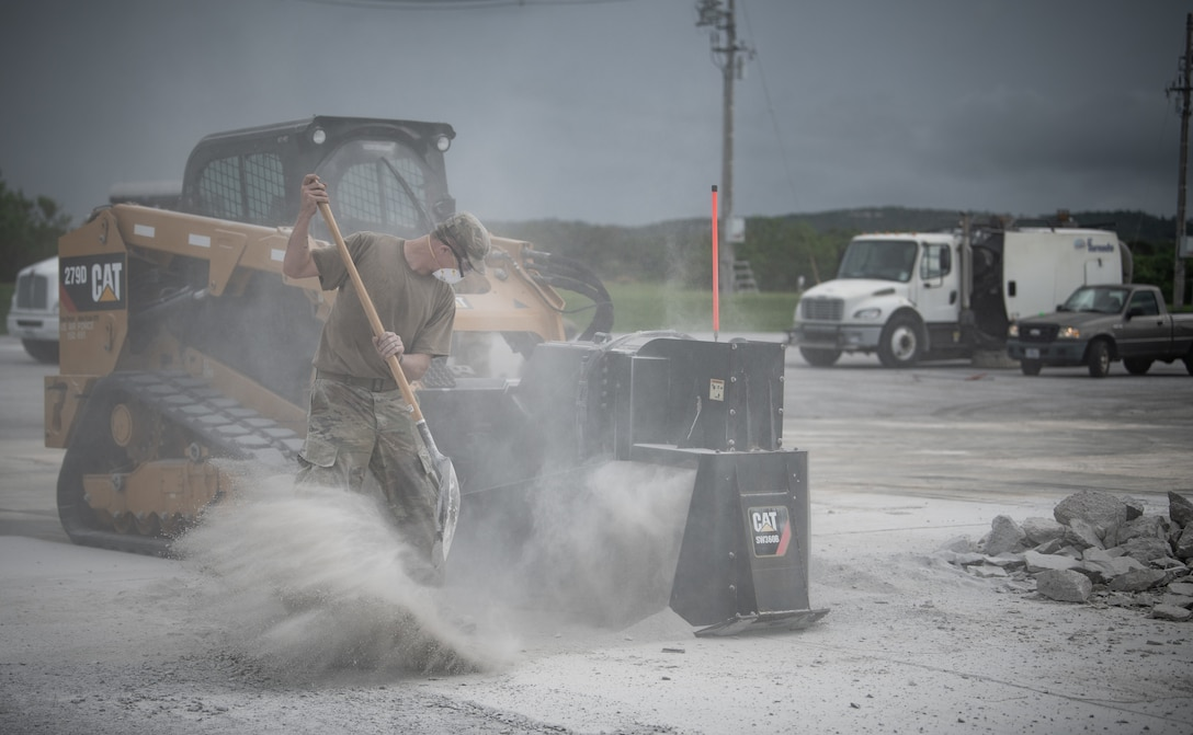 The 18th CEG's role in VS20 was to test a modified fiber reinforced polymer matting  and validate proof of concept as an airfield damage repair solution compatible with agile combat employment operations.
