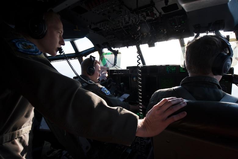 Airmen view German airspace.