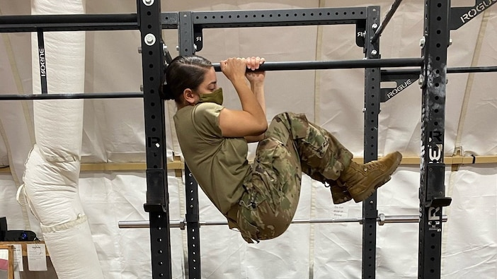 Task Force Illini Soldiers prepares for the new Army fitness test