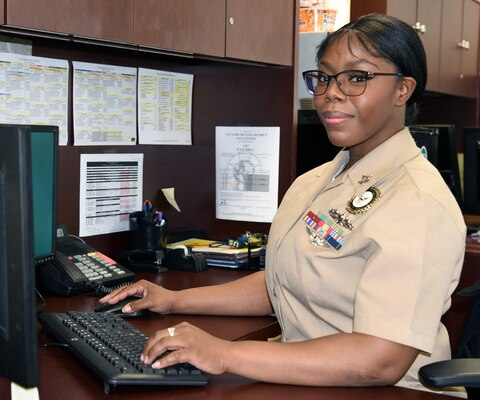 Petty Officer 2nd Class Jasmine Harris, Navy Talent Acquisition Group San Antonio assistant command career counselor, monitors and provides career guidance to active duty Sailors and Reservists who are recruiters with NTAG San Antonio. She also assists the NTAG San Antonio command career counselor and command master chief in all career development programs.