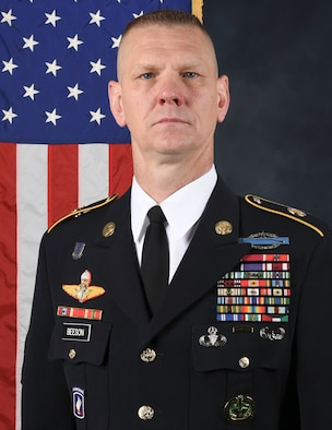 Official photo for Command Sergeant Major Scott A. Beeson