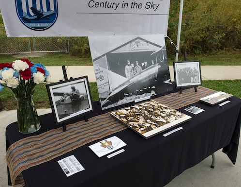 Historical items from the 109th Observation Squadron were placed on display in Falcon Heights, Minn., Sept. 26, 2020.