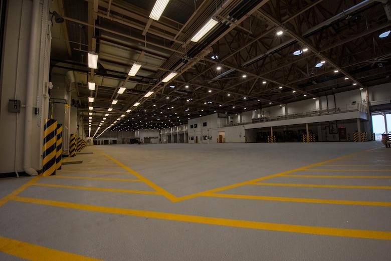 Inside of an air freight terminal