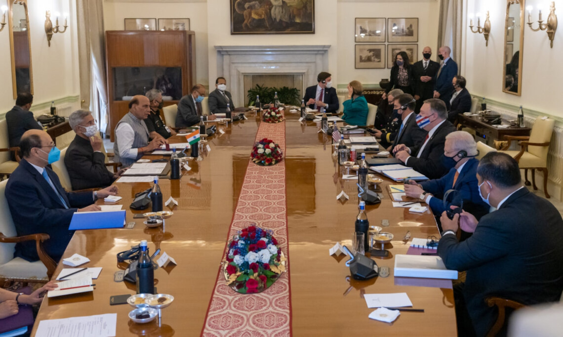 Sec Pompeo, Sec Esper, Min Singh, & Min Jaishankar Opening Statements at U.S.-India 2+2 Ministerial Dialogue