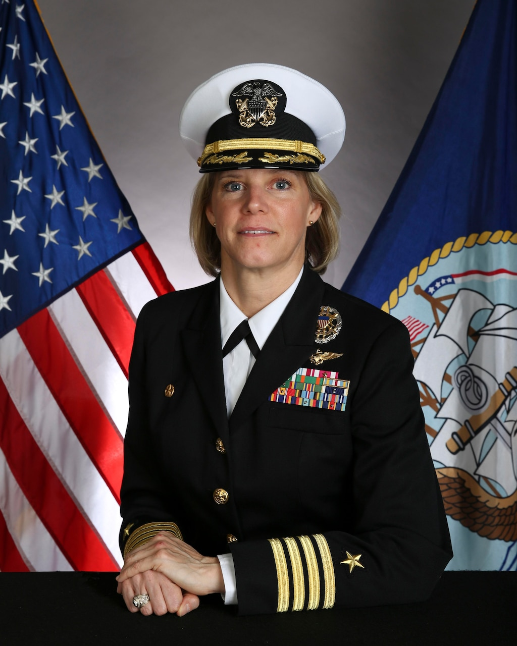 Official biography photo of Capt. Amy N. Bauernschmidt, commanding officer, USS San Diego (LPD 22).