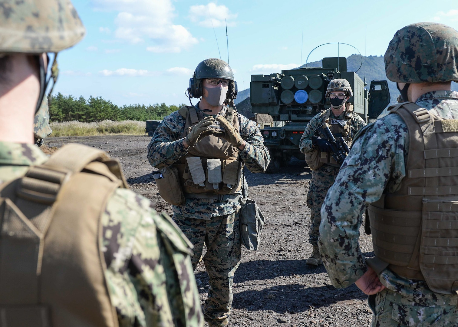 7th Fleet Staff Join 12th Marine Regiment for Live Fire Exercise