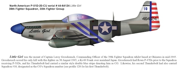 "The famed P-51 ""Little Girl"""