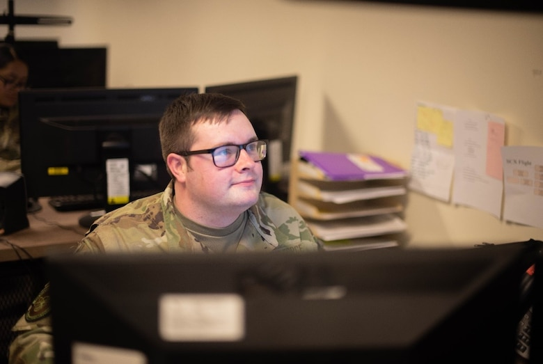 U.S. Air Force Airman 1st Class Kyle Keaton, 87th Communication Squadron Cybersecurity technician, builds tempest packages for customers on Joint Base McGuire-Dix-Lakehurst, N.J., Oct. 23, 2020. Tempest is the administration and maintenance of non-classified and classified information networks, one of the three systems that cybersecurity technicians work on. (U.S. Air Force photo by Airman 1st Class Joseph Morales)