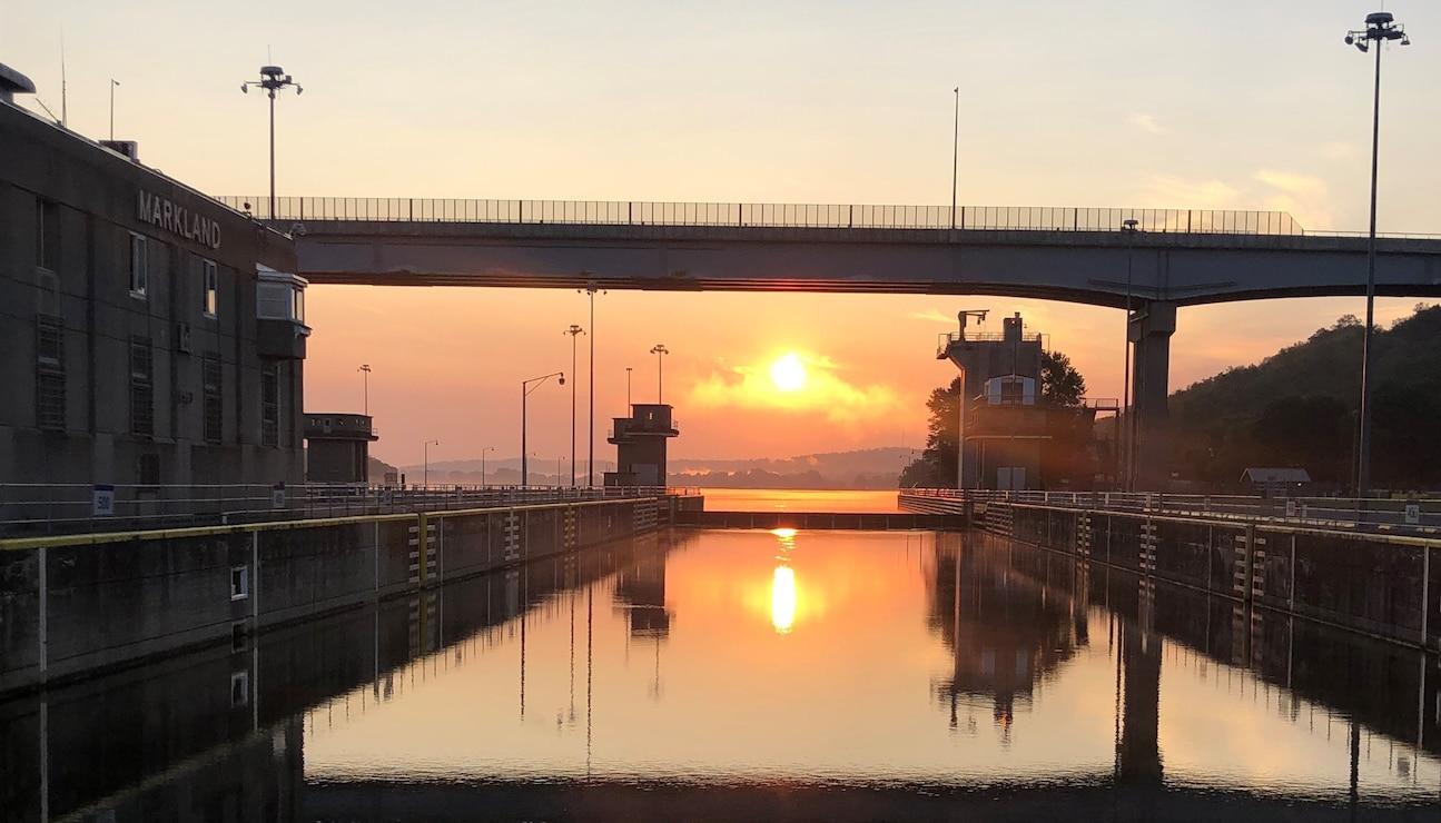 Sunrise at Markland Locks and Dam