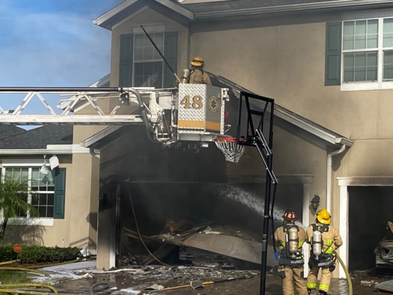 Gerald Dion, 333rd Recruiting Squadron unit program coordinator, Patrick Air Force Base, Florida, was going for a walk in his neighborhood Oct. 16, 2020, when he noticed a huge plume of smoke.