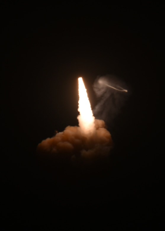Photo of Minuteman III test launch