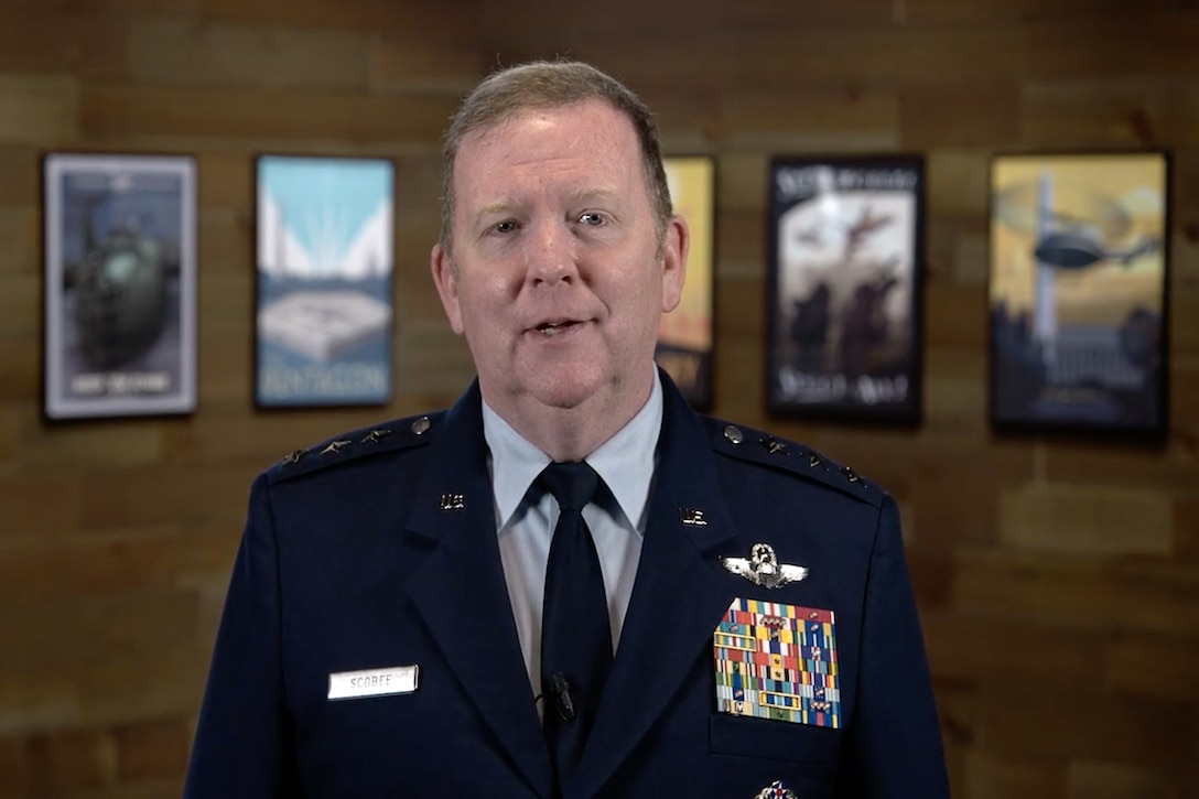 Lt. Gen. Richard W. Scobee, chief of the Air Force Reserve and commander of Air Force Reserve Command, highlighted Total Force integration, the Reserve's rapid response to the COVID-19 pandemic, and the Reserve's unique weather reconnaissance, aerial spray and aerial firefighting missions during the Airlift/Tanker Association's 52nd annual convention, symposium and technology, 29 October, 2020. This year's event was held virtually due to ongoing COVID-19 health concerns.