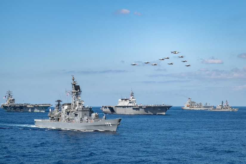 Multinational ships and aircraft participate in Keen Sword 21.