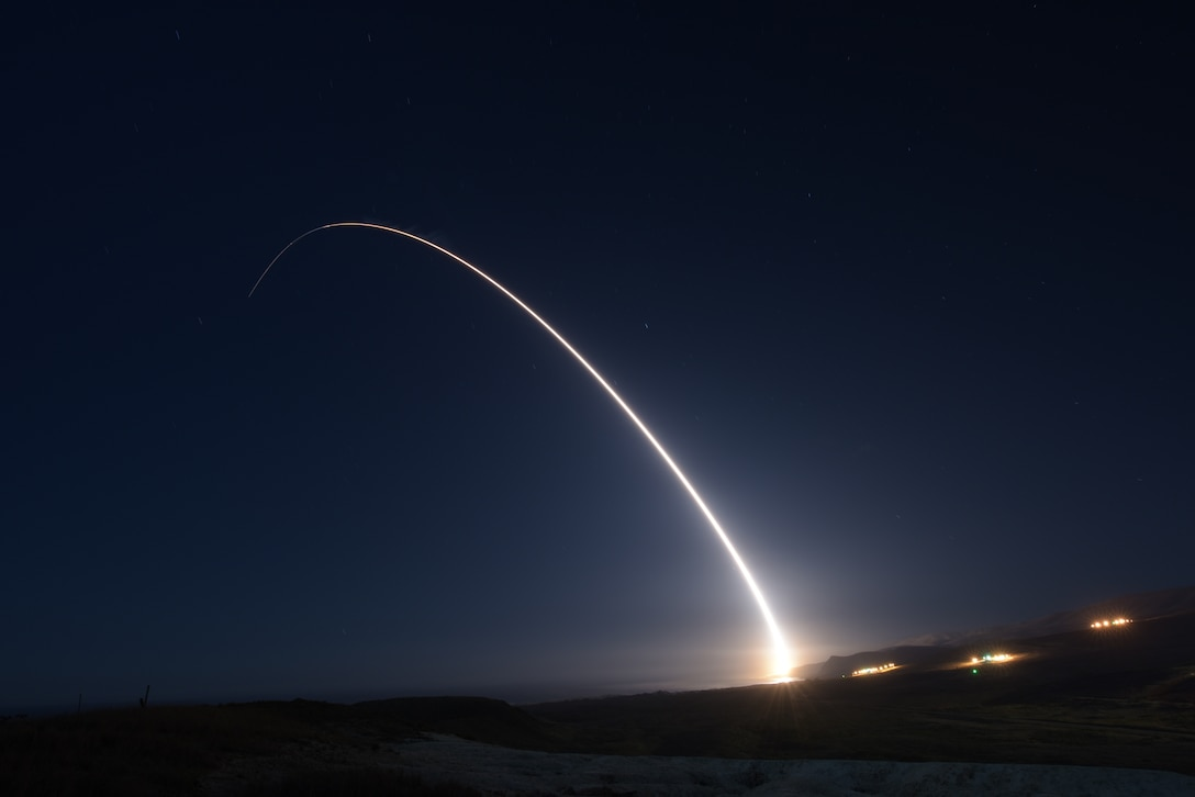 Photo of Minuteman III test launch