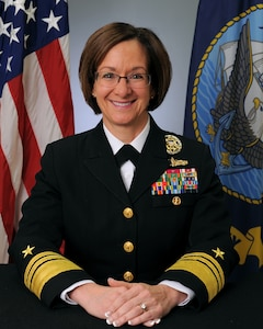 Official bio photo for Vice Adm. Lisa Franchetti, Director for Strategy, Plans and Policy (J-5)