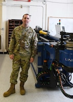 Tech. Sgt. Edward McGaughey, 104th Maintenance Squadron hydraulic systems supervisor, helps to maintain the hydraulic systems on the 21 F-15Cs at Barnes Air National Guard Base, Massachusetts.