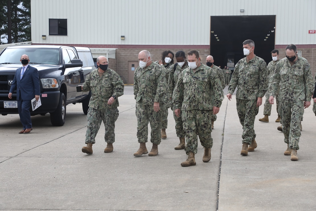 Chief of Naval Operations (CNO) Adm. Mike Gilday meets with members of Naval Special Warfare (NSW) during a visit to East Coast-based NSW Groups, Oct. 29, 2020.