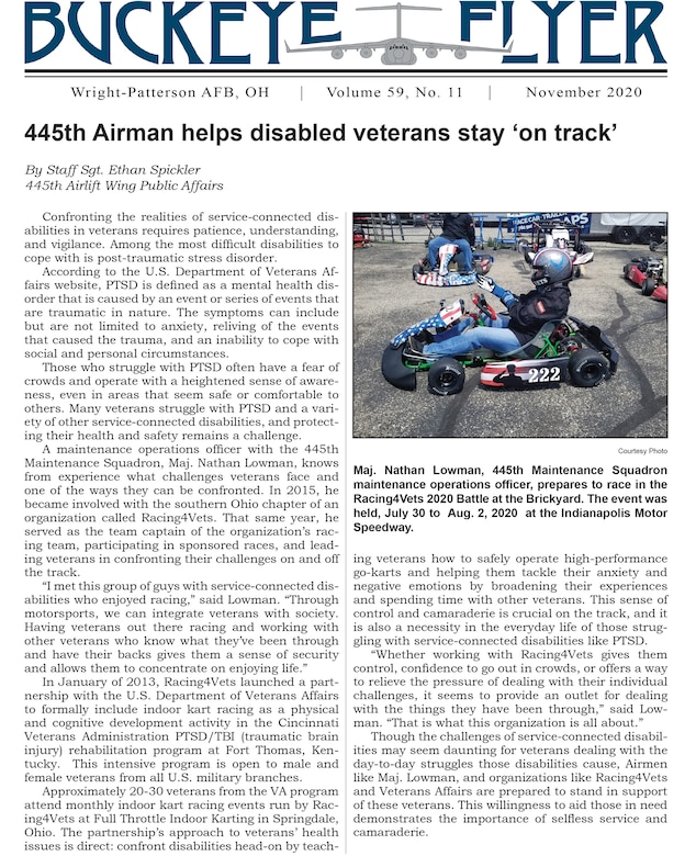 The November 2020 issue of the Buckeye Flyer is now available. The official publication of the 445th Airlift Wing includes eight pages of stories, photos and features pertaining to the 445th Airlift Wing, Air Force Reserve Command and the U.S. Air Force.