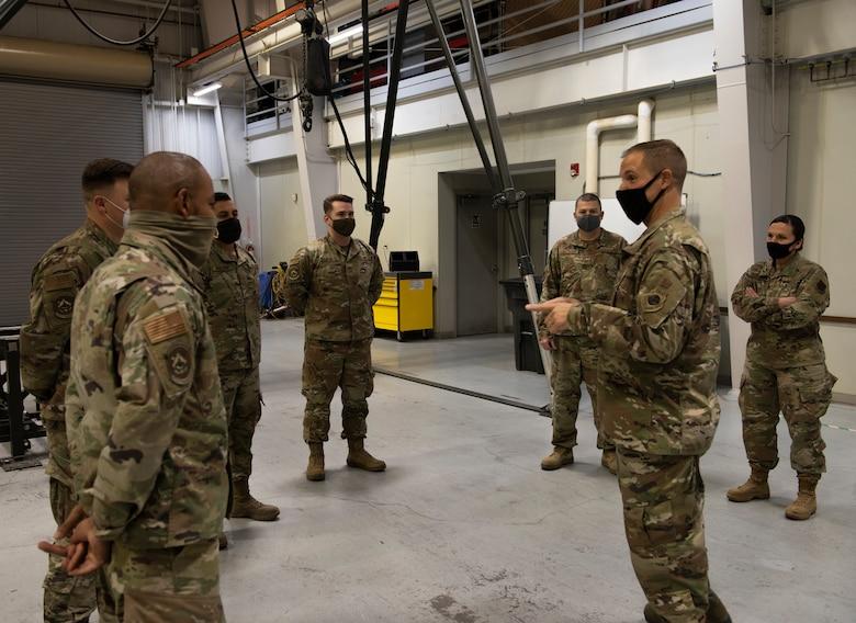 366th MUNS Airmen meets Col. Teel during an immersion tour.