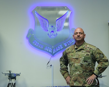 Chief Master Sgt. Jason Colón, 628 Air Base Wing Command Chief, poses for a portrait at the Wing Headquarters Building at Joint Base Charleston, S.C. Aug. 28, 2020. Colón rose through the ranks as a Special Operations Weather Technician and has been in the Air Force for 30 years.