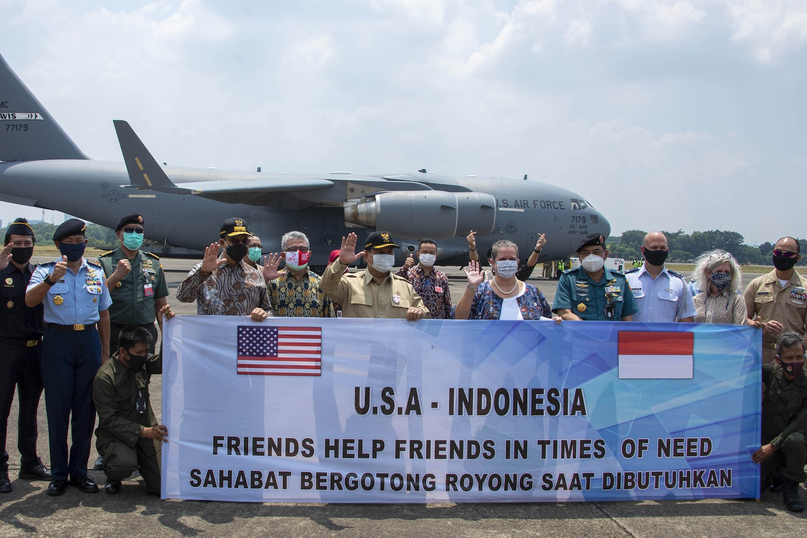 Defense Department Aids U.S. Delivery of Ventilators to Indonesia