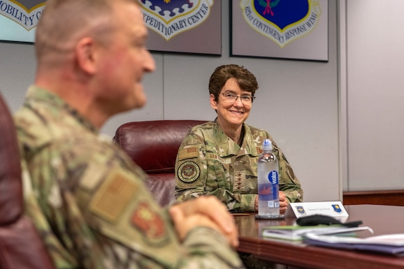 AMC commander visits Travis CRW Airmen