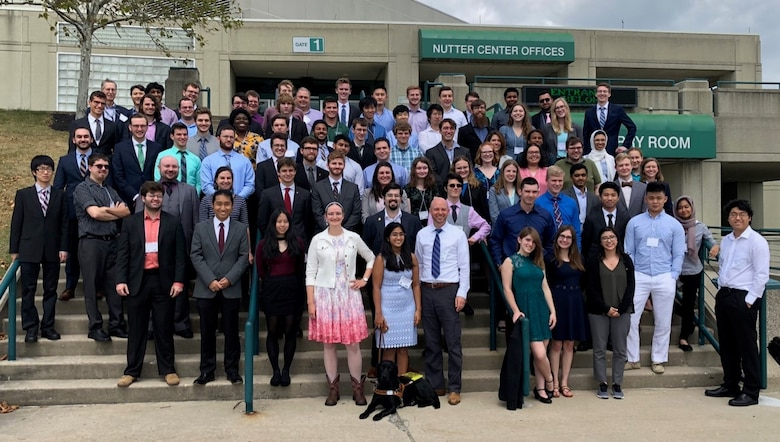 Participants in the 2019 ATRC Summer Internship Program pose for a picture outside the Nutter Center in Dayton, Ohio. (Courtesy photo)