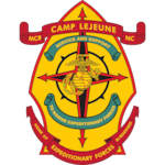 The official command seal for Marine Corps Base Camp Lejeune.
