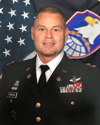 COL Stephen Parrish, commander, U.S. Army Satellite Operations Brigade, ASU photo