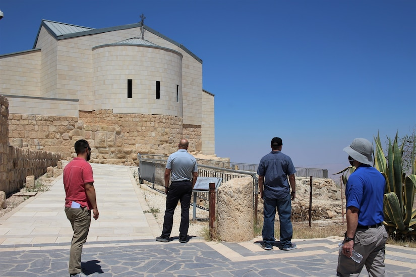 U.S. Army Soldiers visit the church at Mount Nebo. The modern church sits on an ancient foundation that was originally built in the 4th century, and later excavated and restored in the 20th century. With COVID-19 safety measures in place, the Area Support Group-Jordan Unit Ministry Team has provided Spiritual Resiliency Trips for service members stationed in Jordan. The U.S. military is in Jordan to partner with the Jordan Armed Forces to meet common security objectives in the region.