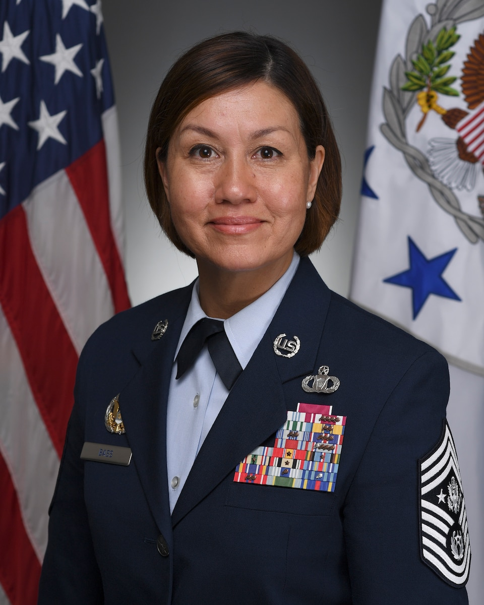 This is the official portrait of Chief Master Sergeant of the Air Force JoAnne S. Bass.