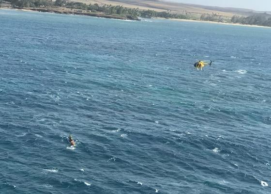 Coast Guard, partners rescue paddler off Maui