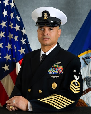 Official Portrait of Command Master Chief Igor F. Vargas
