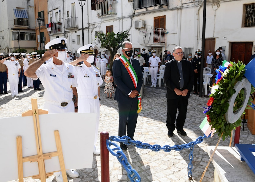 A memorial service was held Sept. 4, 2020, in honor of Lt. Vincent Capodanno, a U.S. Navy Chaplain who was awarded the Medal of Honor for his service.