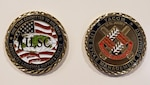 Image of two Commander's Challenge Coins